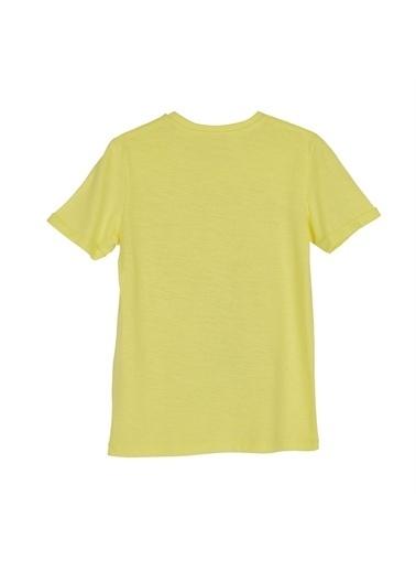 Silversun Kids Erkek Genç Baskılı Kısa Kollu Tişört Bk 315831 Sarı